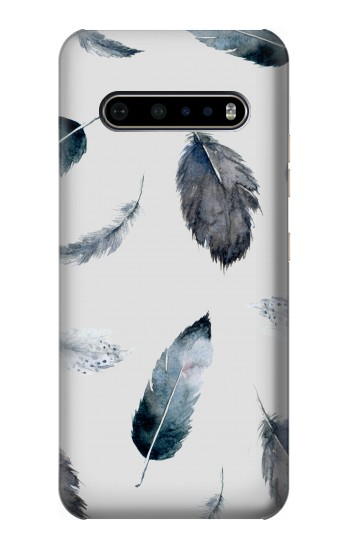 Printed Feather Paint Pattern LG V60 ThinQ 5G Case