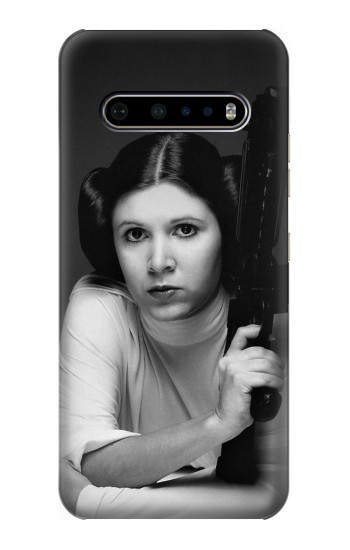 Printed Princess Leia Carrie Fisher LG V60 ThinQ 5G Case