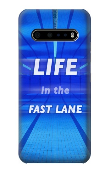 Printed Life in the Fast Lane Swimming Pool LG V60 ThinQ 5G Case