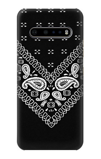 Printed Bandana Black Pattern LG V60 ThinQ 5G Case