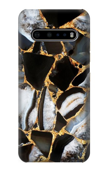 Printed Gold Marble Graphic Print LG V60 ThinQ 5G Case