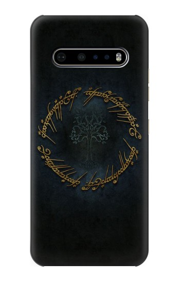 Printed Lord of The Rings Ring Elf Writing LG V60 ThinQ 5G Case
