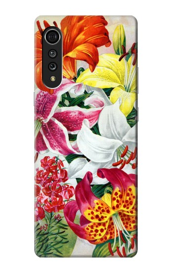 Printed Retro Art Flowers LG Velvet Case