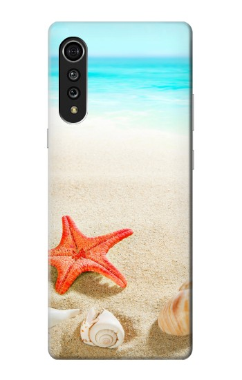 Printed Sea Shells Starfish Beach LG Velvet Case