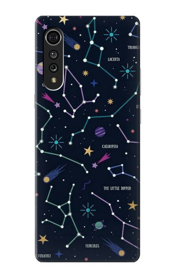 Printed Star Map Zodiac Constellations LG Velvet Case