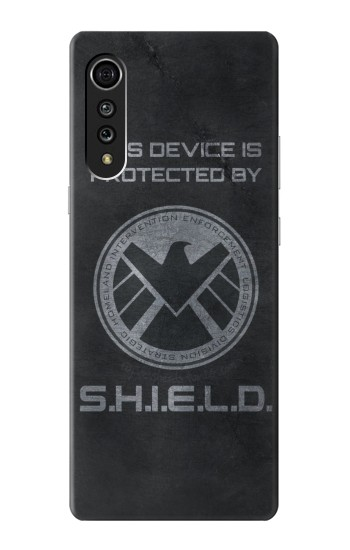 Printed This Device is Protected by Shield LG Velvet Case