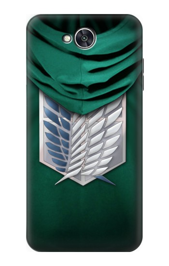 Printed Attack on Titan Scouting Legion Rivaille Green Cloak LG X power2 Case