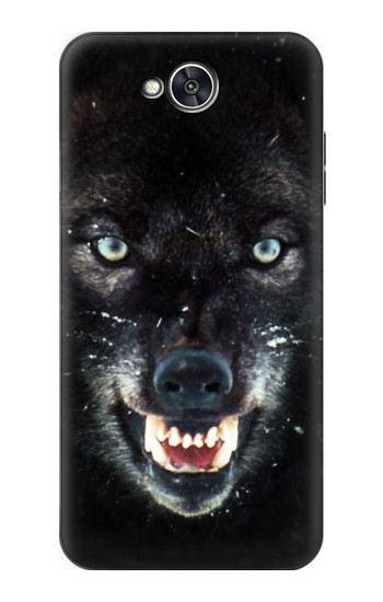 Printed Black Wolf Blue Eyes Face LG X power2 Case
