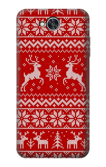 Printed Christmas Reindeer Knitted Pattern LG X power2 Case