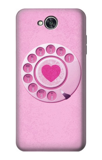 Printed Pink Retro Rotary Phone LG X power2 Case