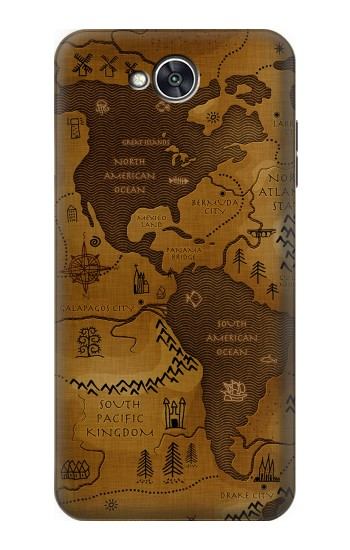 Printed Antique Style Map LG X power2 Case