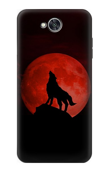 Printed Wolf Howling Red Moon LG X power2 Case