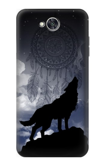Printed Dream Catcher Wolf Howling LG X power2 Case