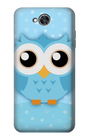 Printed Cute Blue Owl LG X power2 Case