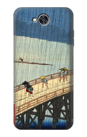 Printed Utagawa Hiroshige Sudden shower over Shin Oashi bridge and Atake LG X power2 Case