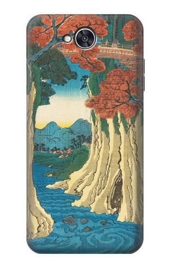 Printed Utagawa Hiroshige The Monkey Bridge in Kai Province LG X power2 Case