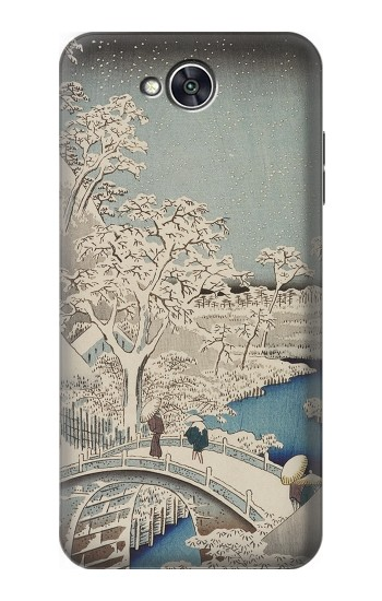 Printed Utagawa Hiroshige The Drum Bridge at Yuhi Hill in Meguro LG X power2 Case
