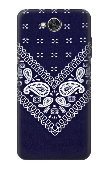 Printed Navy Blue Bandana Pattern LG X power2 Case
