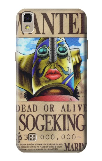 Printed One Piece SOGEKING Wanted Poster LG F70 D315 Case