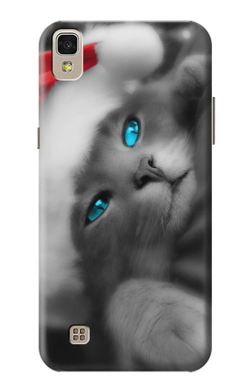 Printed Cute Cat Kitty Xmas LG F70 D315 Case