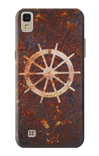 Printed Ship Wheel Rusty Texture LG F70 D315 Case