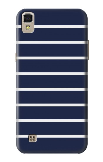 Printed Navy White Striped LG F70 D315 Case