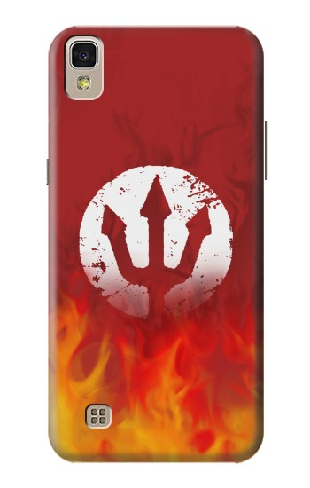 Printed Fire Red Devil Symbol LG F70 D315 Case