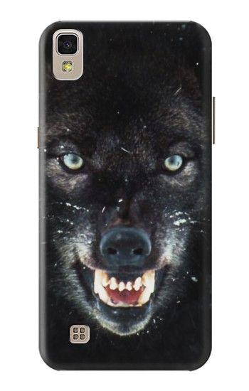 Printed Black Wolf Blue Eyes Face LG F70 D315 Case