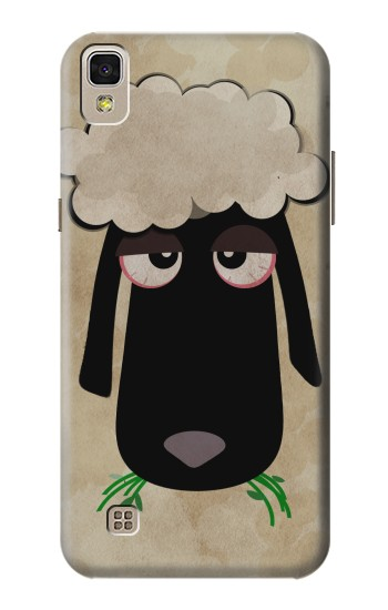 Printed Cute Cartoon Unsleep Black Sheep LG F70 D315 Case