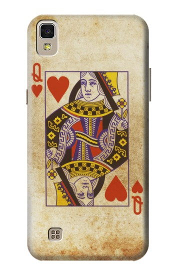 Printed Poker Card Queen Hearts LG F70 D315 Case