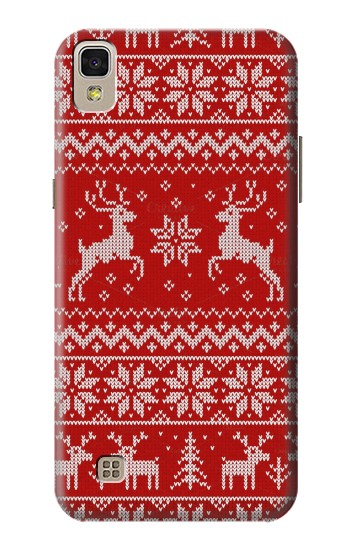 Printed Christmas Reindeer Knitted Pattern LG F70 D315 Case