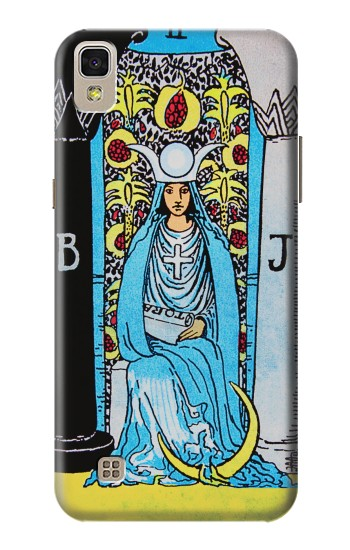 Printed The High Priestess Vintage Tarot Card LG F70 D315 Case