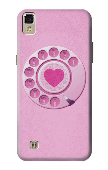 Printed Pink Retro Rotary Phone LG F70 D315 Case