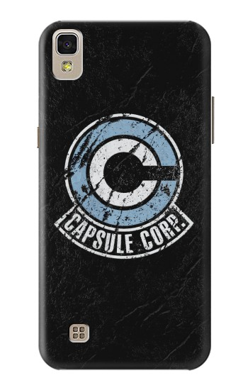 Printed Dragon Ball Capsule Corporation Black Rock LG F70 D315 Case
