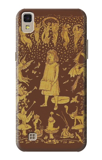 Printed Brown Fairy Book Cover LG F70 D315 Case
