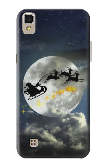 Printed Xmas Santa Night Sky Cloudy Moon LG F70 D315 Case