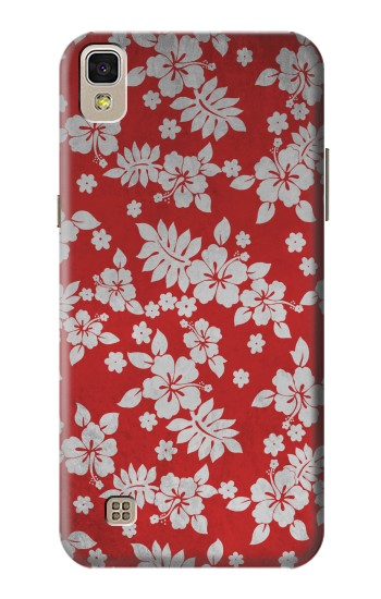 Printed Vintage Red Hawaiian Flower Pattern LG F70 D315 Case