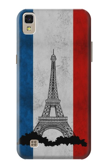 Printed Vintage France Flag Eiffel Tower LG F70 D315 Case