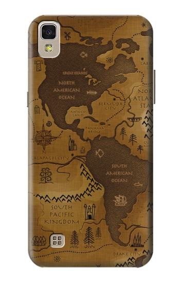 LG X power Antique Style Map Case Cover