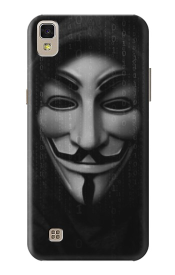 Printed Matrix Anonymous Mask Hacker LG F70 D315 Case