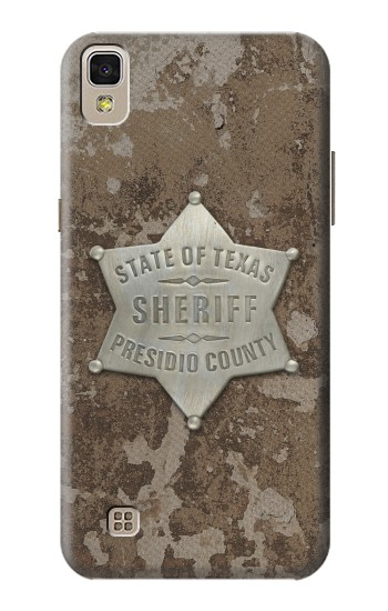 Printed Texas Presidio County Sheriff Badge LG F70 D315 Case