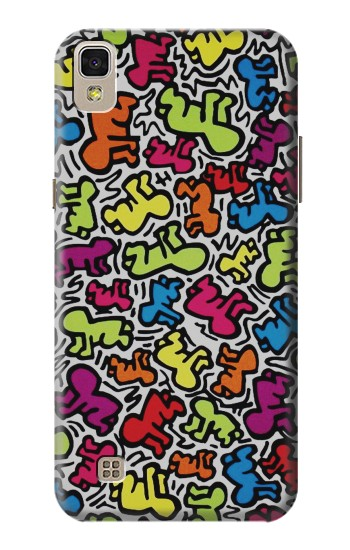 Printed Keith Haring Baby Pattern LG F70 D315 Case
