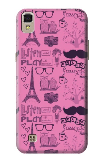 Printed Paris Pink LG F70 D315 Case