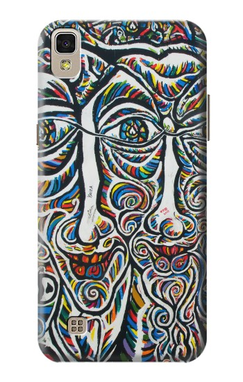 Printed Colorful Faces Berlin Wall LG F70 D315 Case