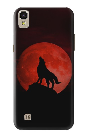 Printed Wolf Howling Red Moon LG F70 D315 Case