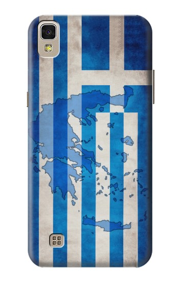 Printed Greece Map Flag LG F70 D315 Case