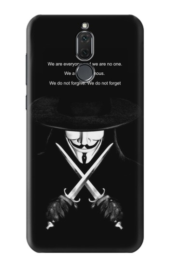 Printed V Mask Guy Fawkes Anonymous Huawei Mate 10 Lite Case