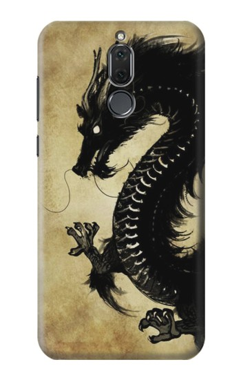 Printed Black Dragon Painting Huawei Mate 10 Lite Case