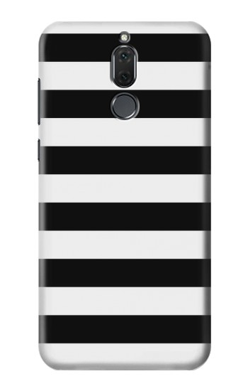 Printed Black and White Striped Huawei Mate 10 Lite Case