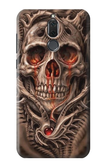 Printed Skull Blood Tattoo Huawei Mate 10 Lite Case